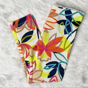 NWT Tea Collection Big Blooms Leggings 3T